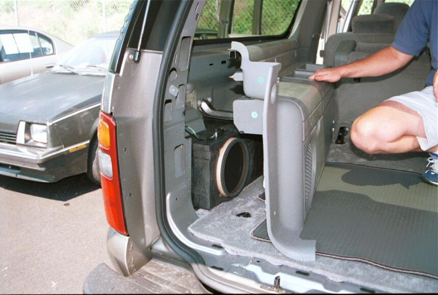 suburban yukon xl rear subwoofer
