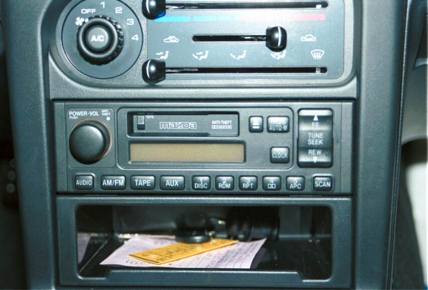 mazda miata mx5 radio single DIN