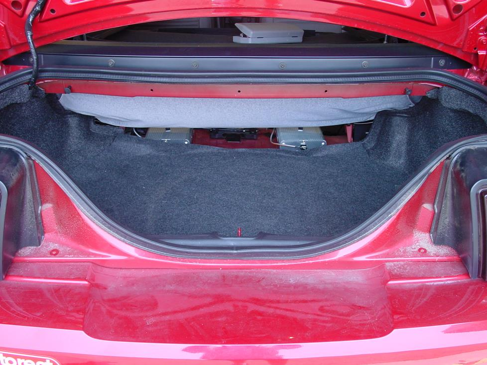 Ford Mustang coupe trunk