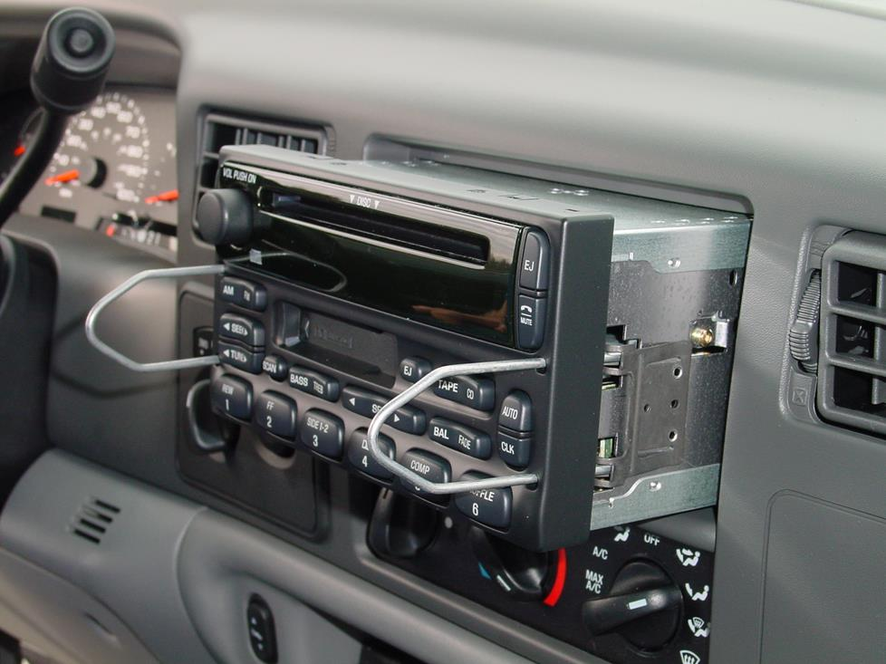 ford excursion radio removal