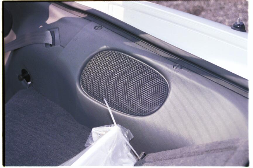 Chevy Camaro coupe rear deck speaker