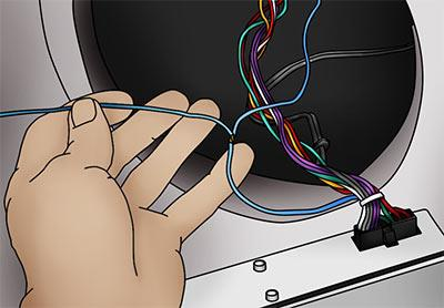 Connect the turn-on lead from your amplifier wiring kit