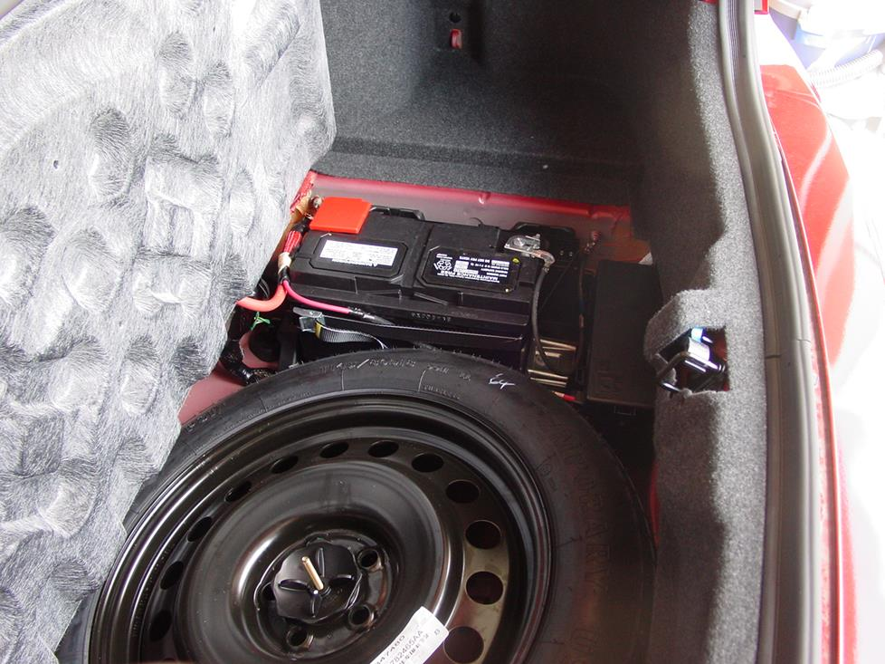 dodge charger trunk-mounted battery