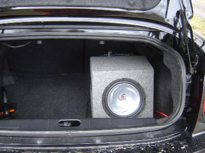 Kenwood sub with the amp mounted on the other side of the box