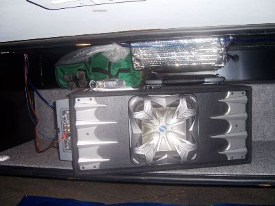 Subwoofer tucked away