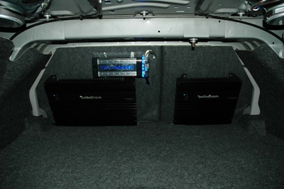 Two Rockford amps provide plenty of power