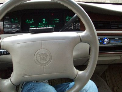 View from the driver. I velcroed the remote to the steering wheel for added control and it worked great./> <span class=