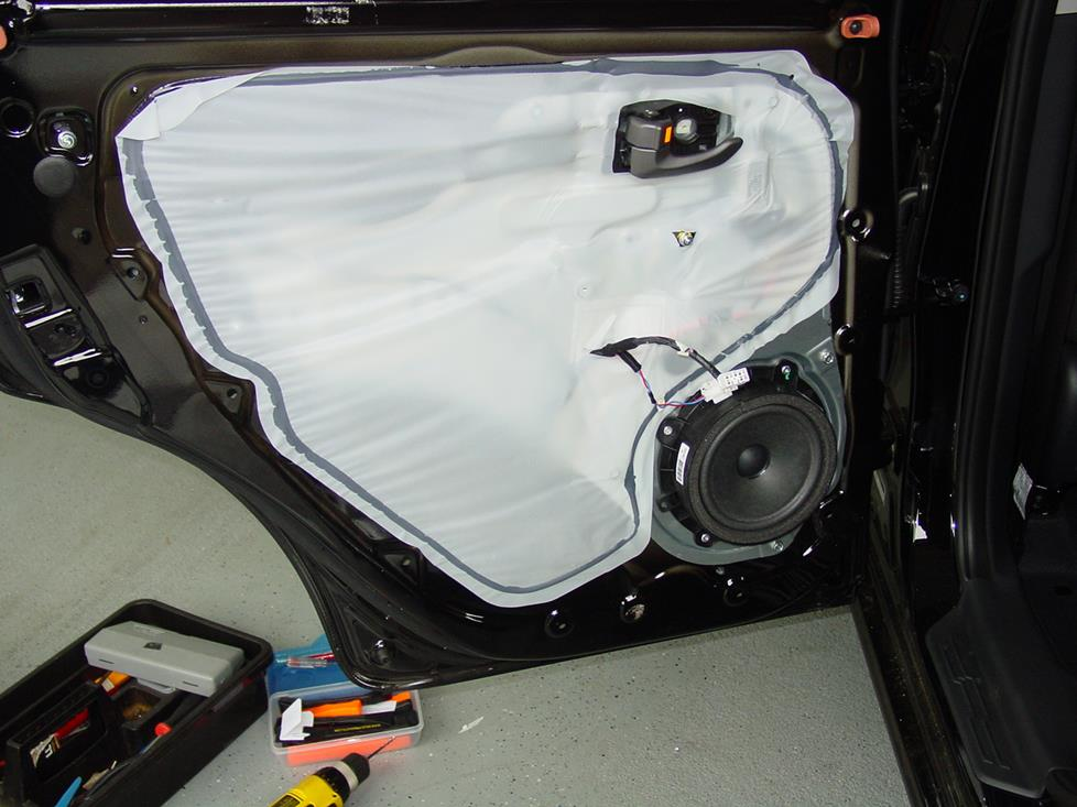 Rear door with panel removed (Crutchfield Research Photo)