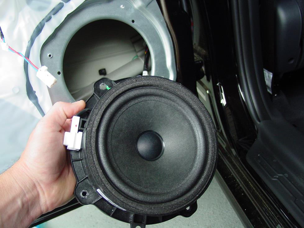 The rear factory speaker (Crutchfield Research Photo)