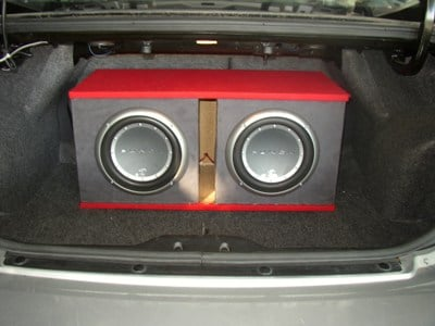 Subwoofers in the custom enclosure