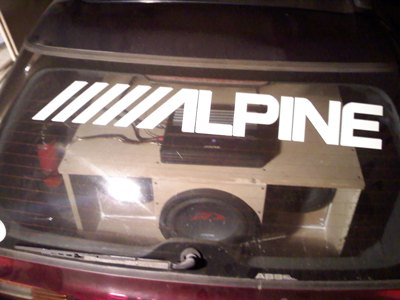 Alpine sticker and the subs!