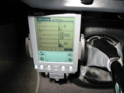 OBDII scanner on my old Palm PDA