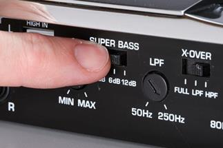 Some amps come with a bass boost