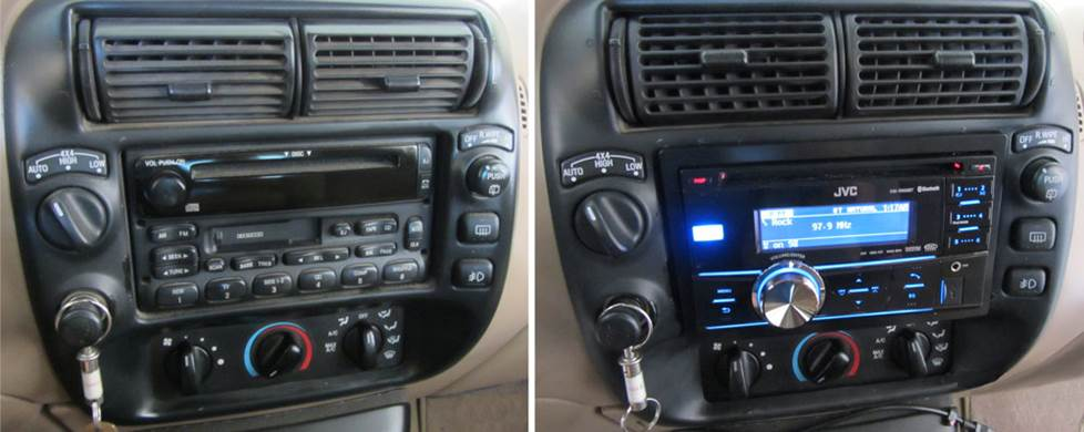Stereo before and after
