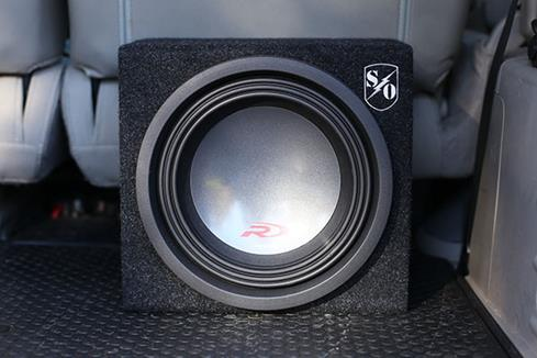 The Alpine subwoofer in a sealed box
