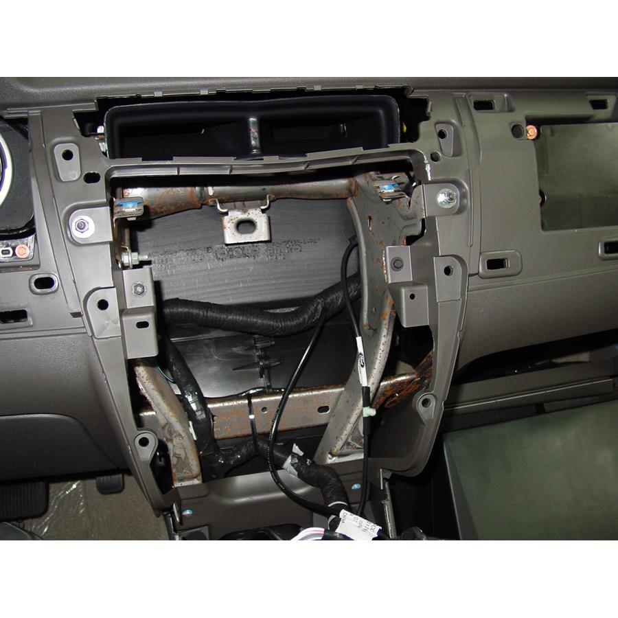 2011 Ford Focus Factory radio removed
