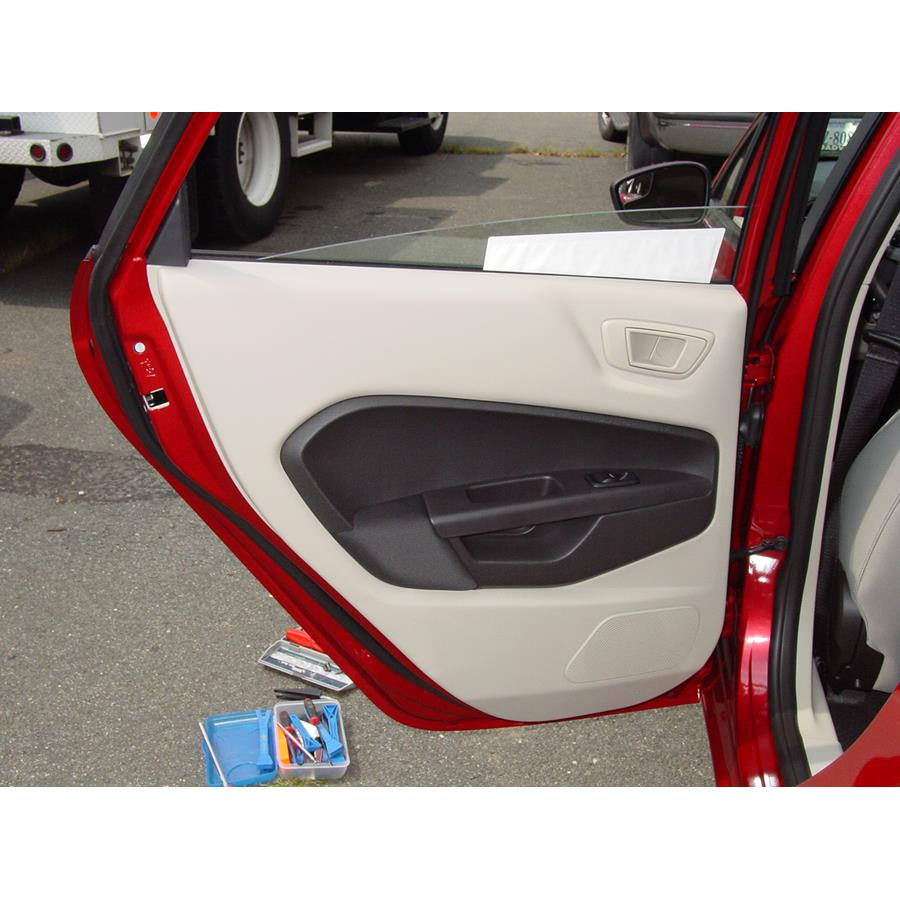 2011 Ford Fiesta Rear door speaker location