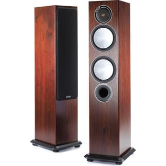 A pair of monitor tower speakers