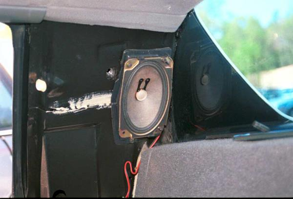 pontiac fiero rear side speaker