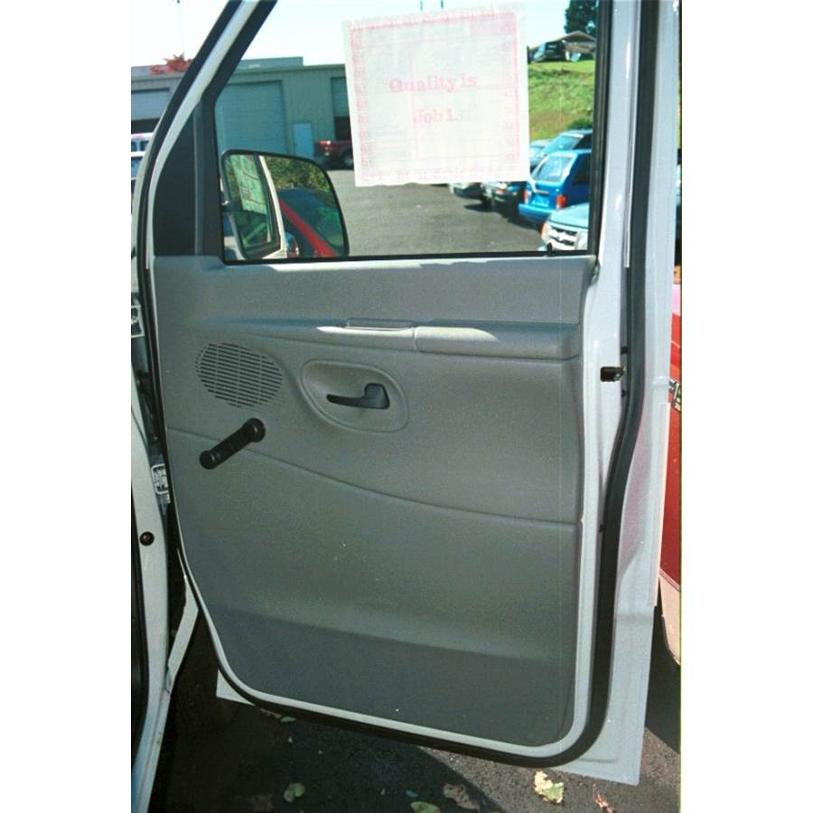 1997 Ford E Series Front door speaker location