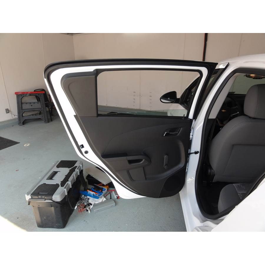 2014 Chevrolet Sonic Rear door speaker location