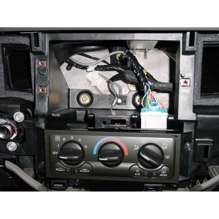 2000 Chevrolet Impala Factory radio removed