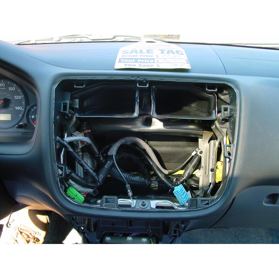 2005 Honda Civic Special Edition Factory radio removed