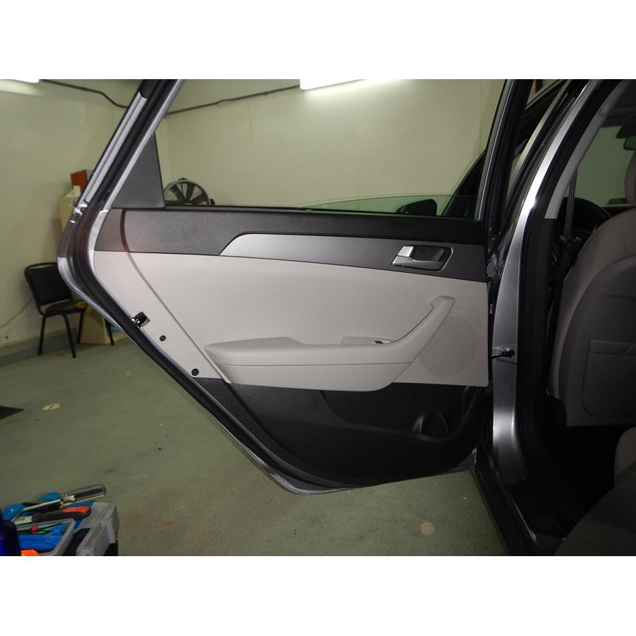 2017 Hyundai Sonata SE Rear door speaker location