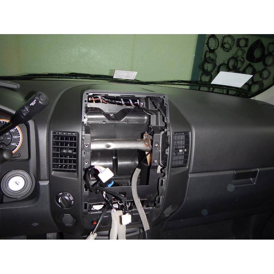 2014 Nissan Titan PRO-4X Factory radio removed