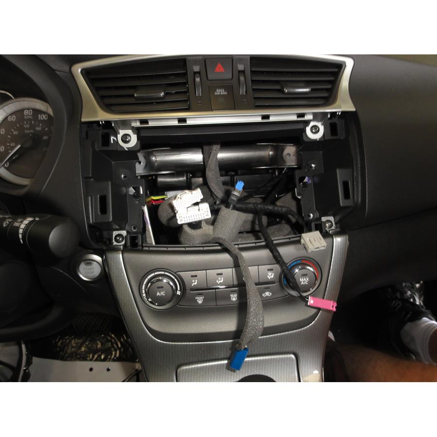 2016 Nissan Sentra Factory radio removed