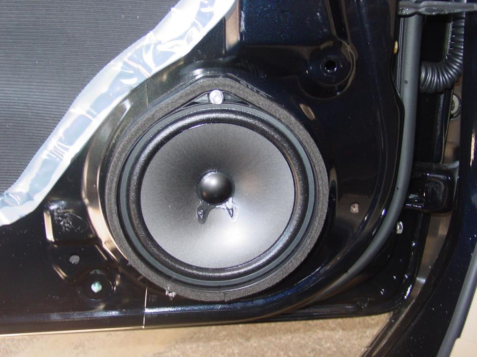 Factory front door speaker (Crutchfield Research Photo)