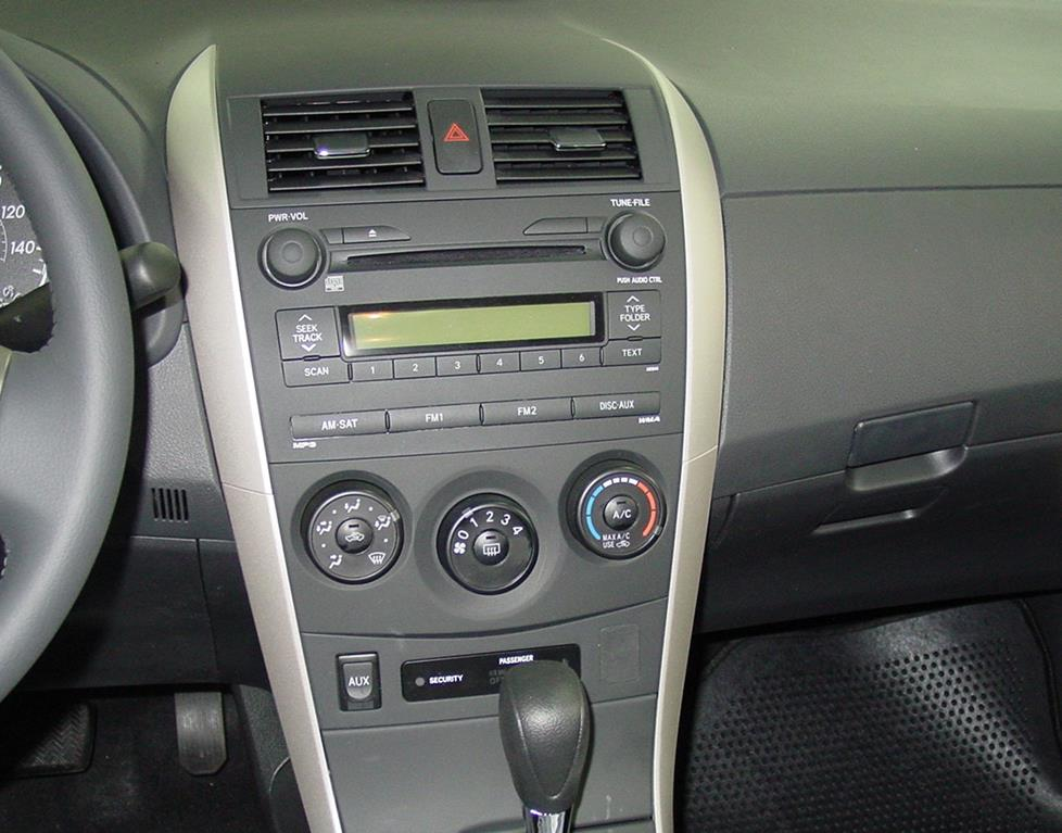 The Corolla's factory radio