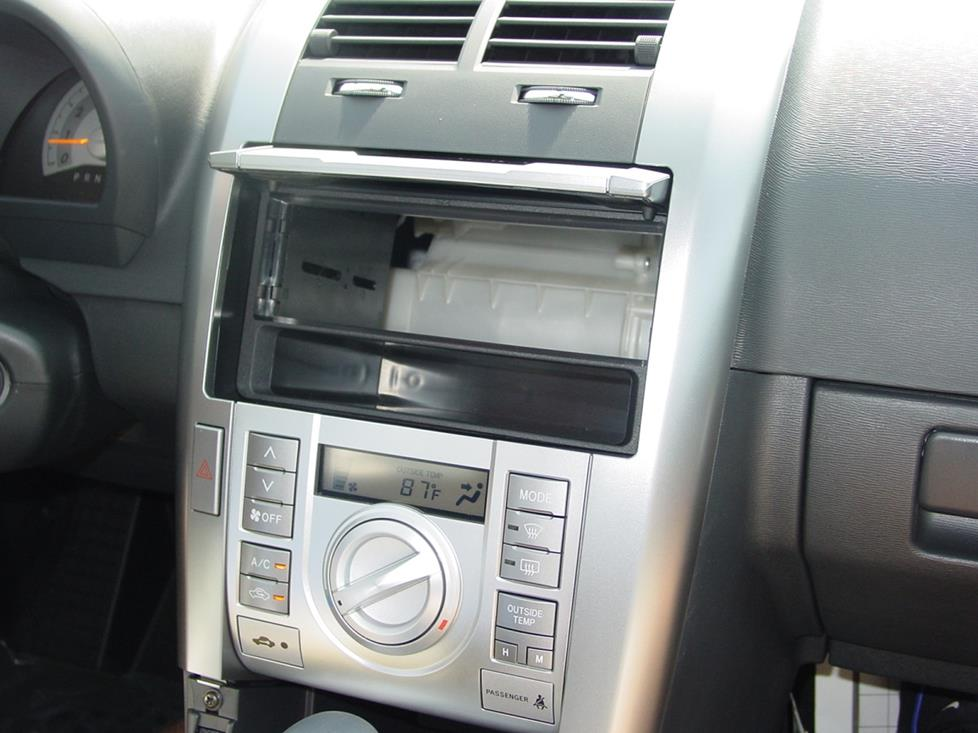scion tc radio mounting kit installed