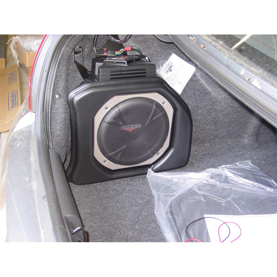 2005 Dodge Neon Factory subwoofer location