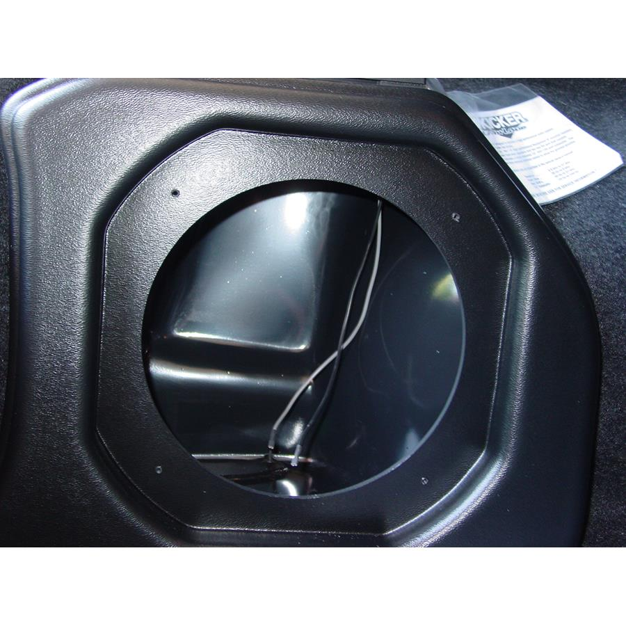 2005 Dodge Neon Factory subwoofer removed