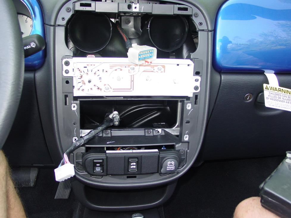 PT Cruiser radio cavity
