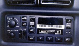 2000 Dodge Ram 3500 Factory Radio