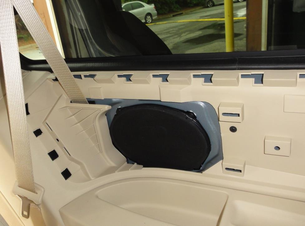Rear side panel speakers on a Chrysler Town & Country