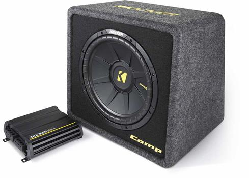 The Kicker amplifier and subwoofer