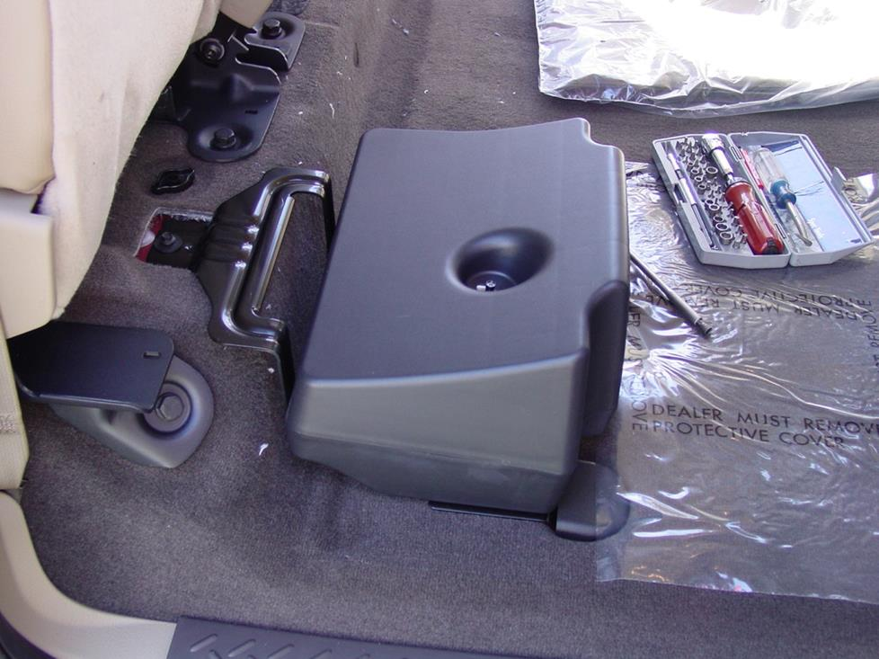 Ford F-150 SuperCab subwoofer