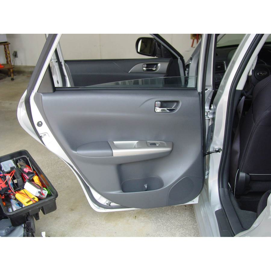 2014 Subaru Impreza WRX Rear door speaker location