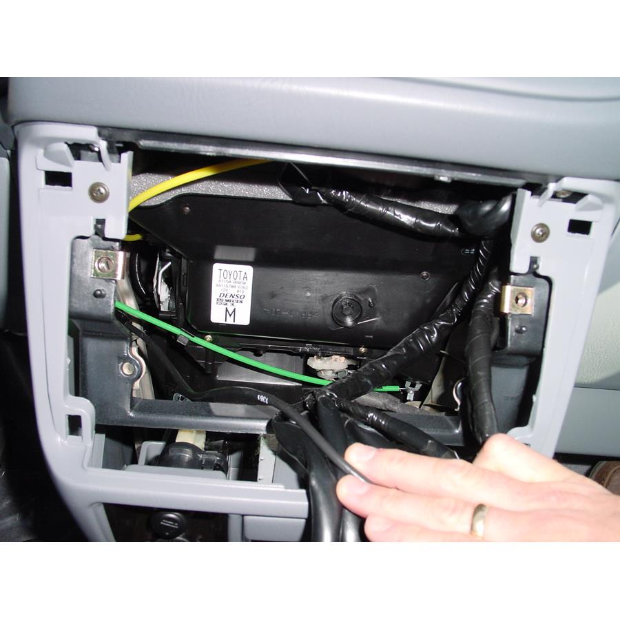 2003 Toyota Sienna Factory radio removed