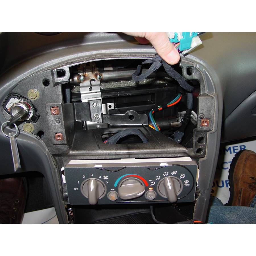 2001 Pontiac Grand Am Factory radio removed