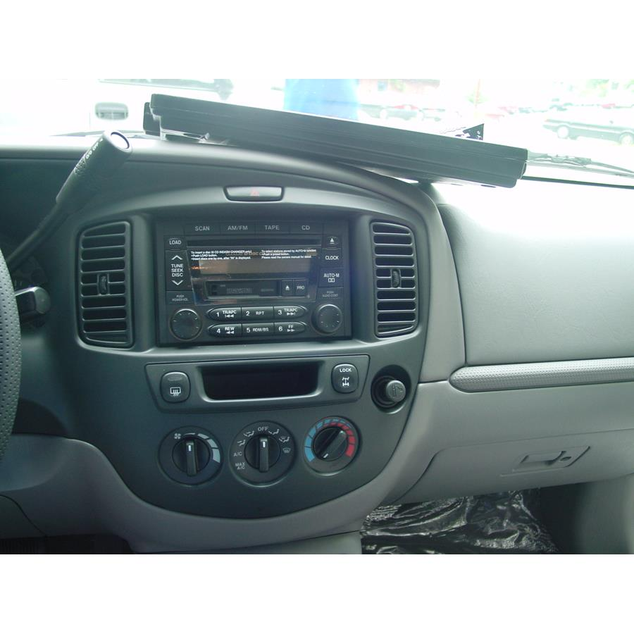 2003 Mazda Tribute Other factory radio option