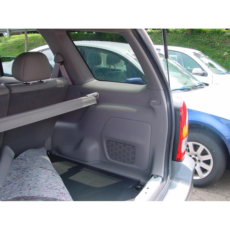 2003 Mazda Tribute Far-rear side speaker location