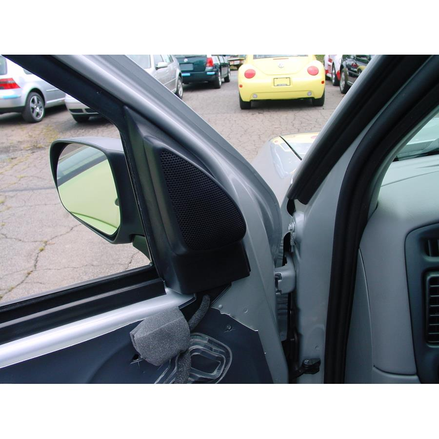 2003 Mazda Tribute Front door tweeter location