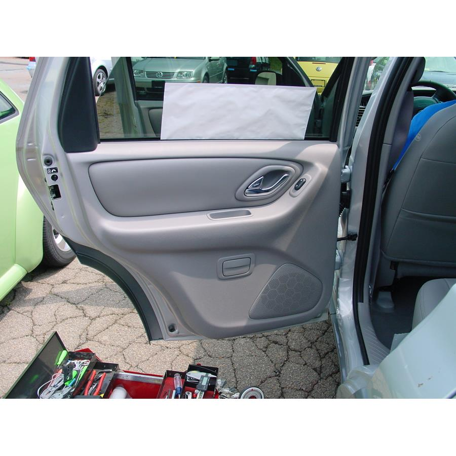 2003 Mazda Tribute Rear door speaker location
