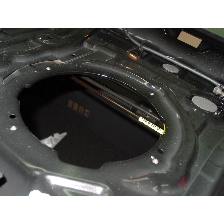 2012 Hyundai Sonata Limited Rear deck speaker removed