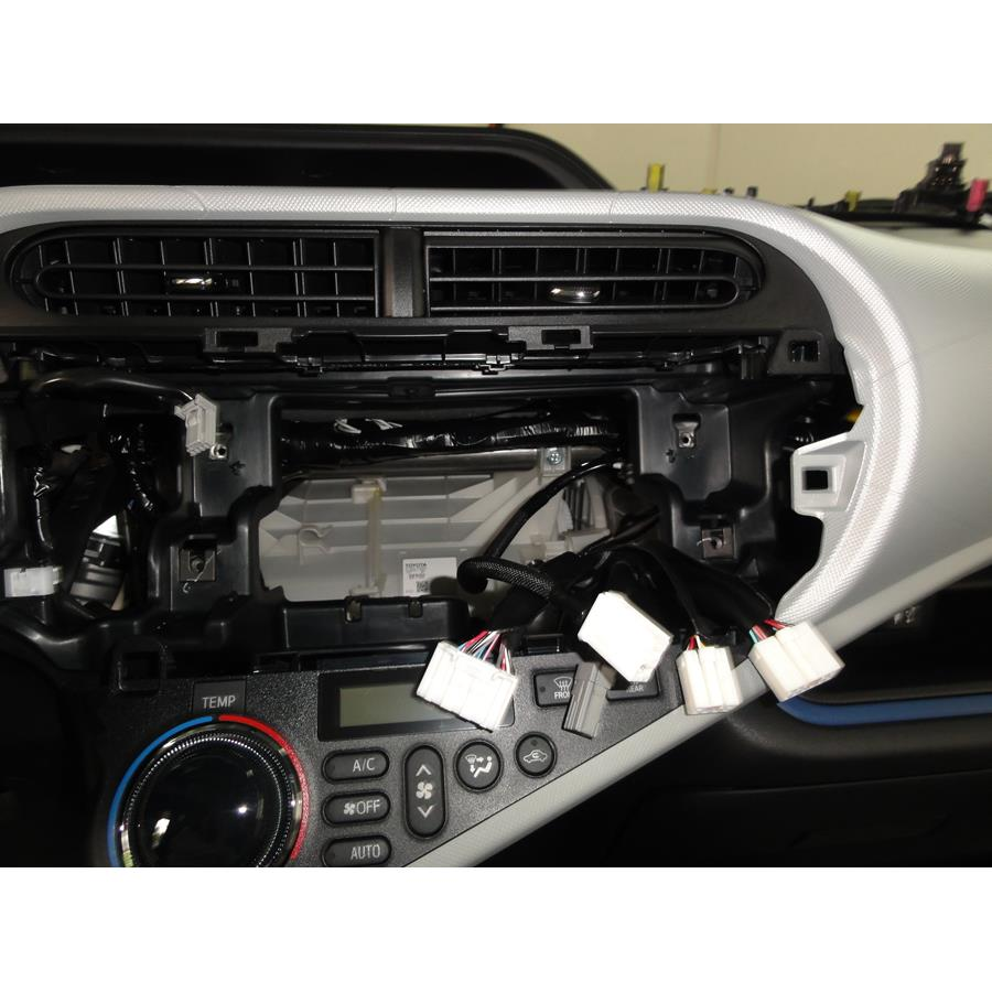 2013 Toyota Prius C Factory radio removed