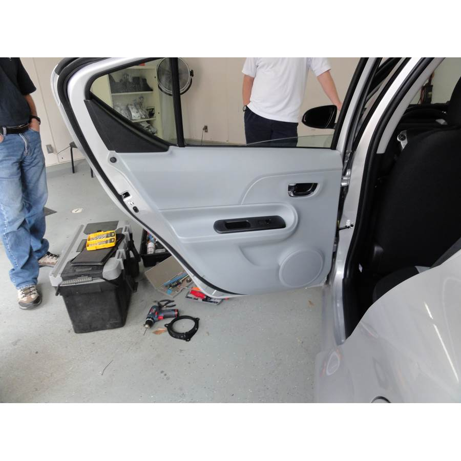 2013 Toyota Prius C Rear door speaker location